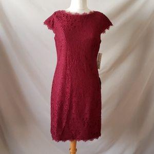 Eliza J Burgundy Lace Dress